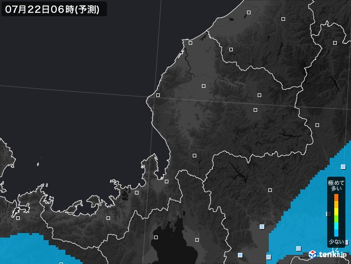 福井県のPM2.5分布予測