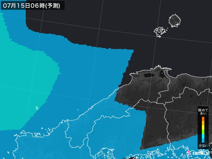 島根県のPM2.5分布予測