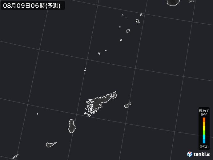 奄美諸島(鹿児島県)のPM2.5分布予測