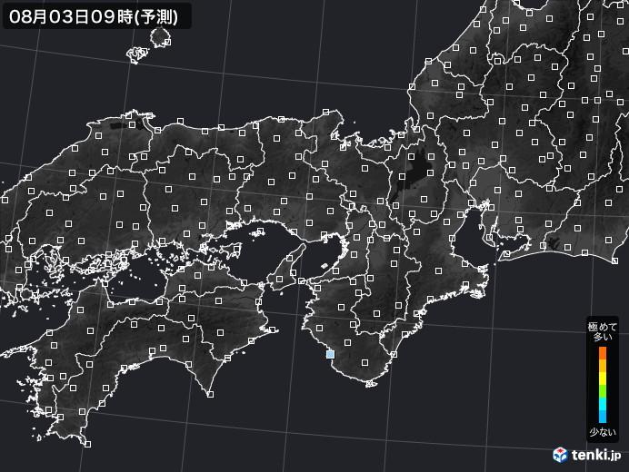 近畿地方のPM2.5分布予測
