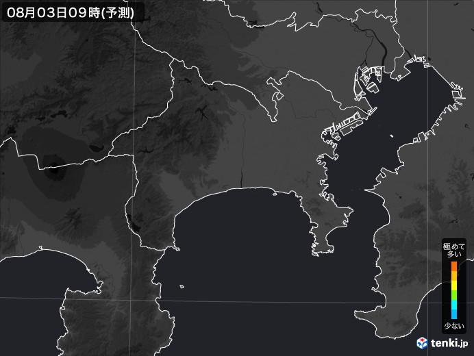 神奈川県のPM2.5分布予測