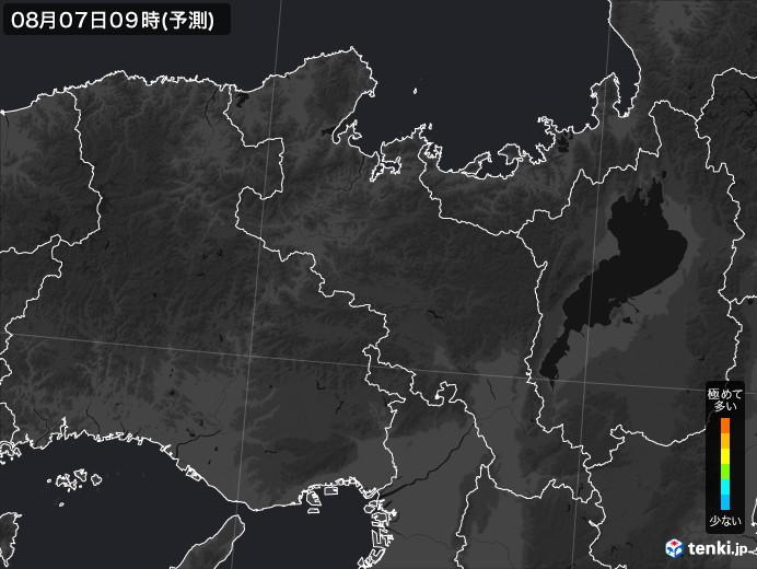 京都府のPM2.5分布予測