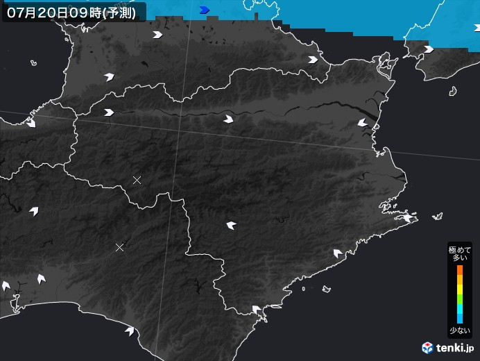 徳島県のPM2.5分布予測