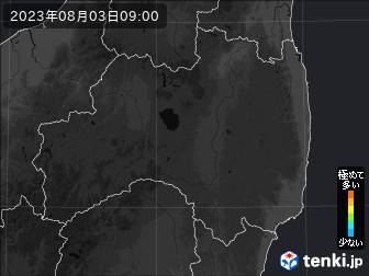 PM2.5分布予測(福島県)