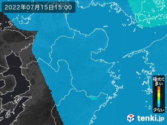 PM2.5分布予測(大分県)