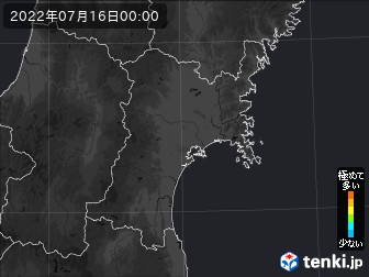 PM2.5分布予測(宮城県)