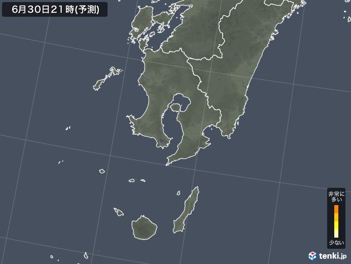 鹿児島県のヒノキ花粉 飛散予測マップ 2021