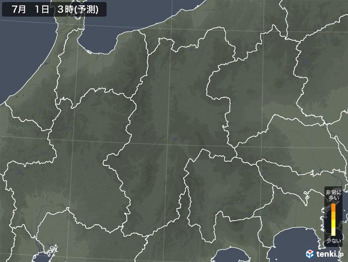長野県のヒノキ花粉飛散予測マップ 2021