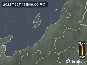 新潟県のヒノキ花粉予測