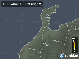 石川県のヒノキ花粉予測