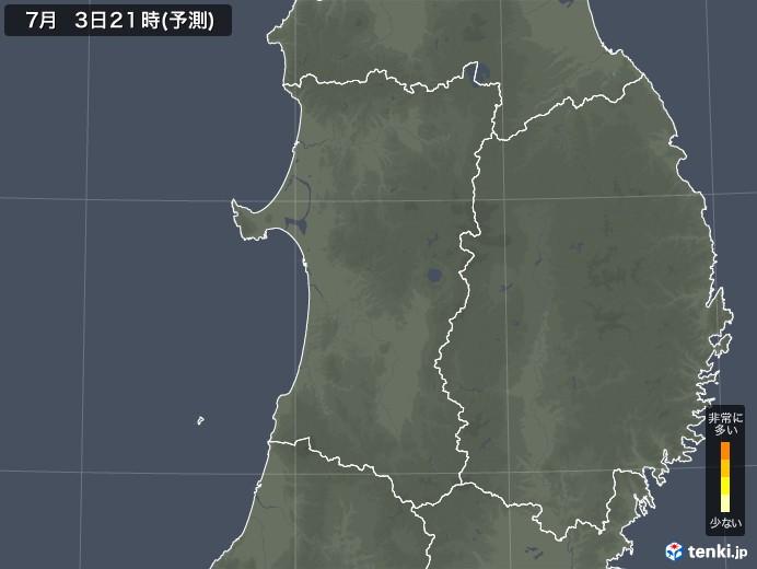 秋田県のヒノキ花粉予測