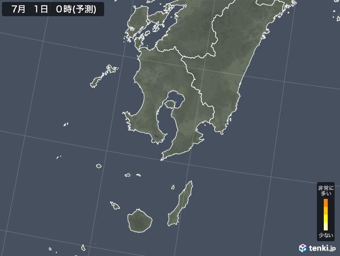 鹿児島県のスギ花粉 飛散予測マップ 2021