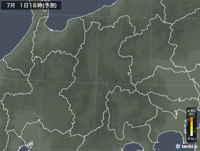 長野県のスギ花粉飛散予測マップ 2021