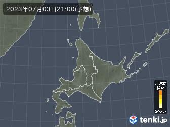 花粉飛散分布予測(北海道地方)