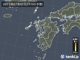 花粉飛散分布予測(九州地方)