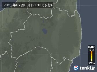 福島県の花粉飛散分布予測