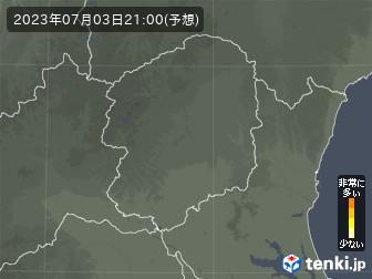 栃木県の花粉飛散分布予測
