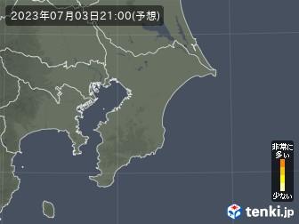千葉県の花粉飛散分布予測
