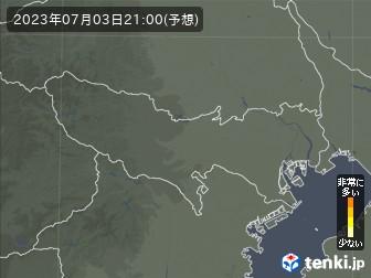 東京都の花粉飛散分布予測