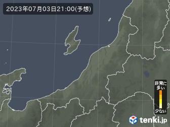 新潟県の花粉飛散分布予測