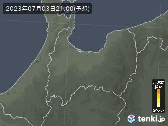 富山県の花粉飛散分布予測