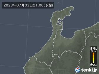 石川県の花粉飛散分布予測