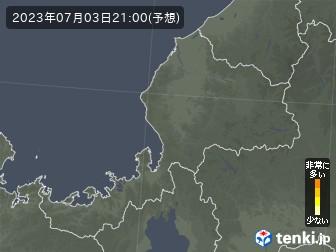 福井県の花粉飛散分布予測