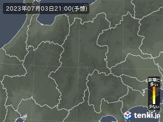 長野県の花粉飛散分布予測