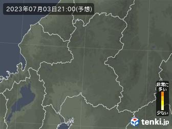 岐阜県の花粉飛散分布予測