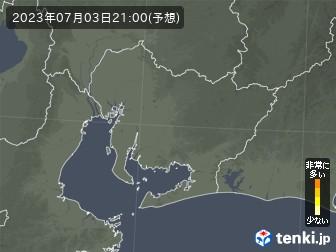 愛知県の花粉飛散分布予測