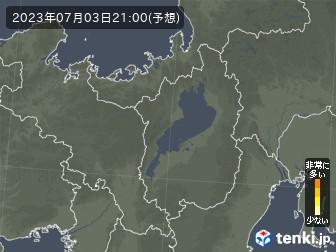 滋賀県の花粉飛散分布予測