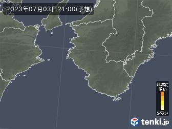和歌山県の花粉飛散分布予測