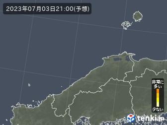 島根県の花粉飛散分布予測