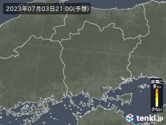 岡山県の花粉飛散分布予測