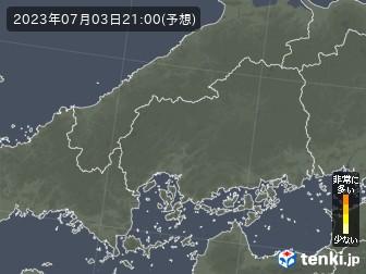 広島県の花粉飛散分布予測