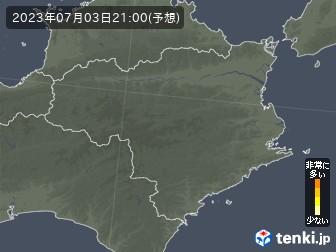 徳島県の花粉飛散分布予測
