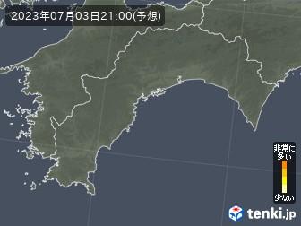 高知県の花粉飛散分布予測