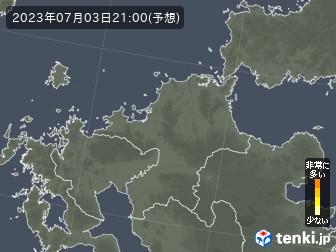 福岡県の花粉飛散分布予測