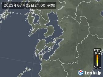 熊本県の花粉飛散分布予測