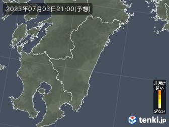 宮崎県の花粉飛散分布予測
