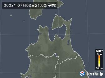 青森県の花粉飛散分布予測