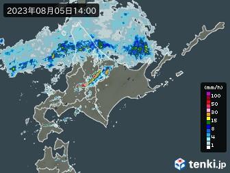 北海道地方の雨雲の動き