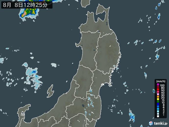 東北地方の雨雲の動き