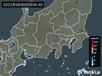 関東・甲信地方の雨雲の動き(実況)