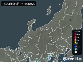 北陸地方の雨雲の動き