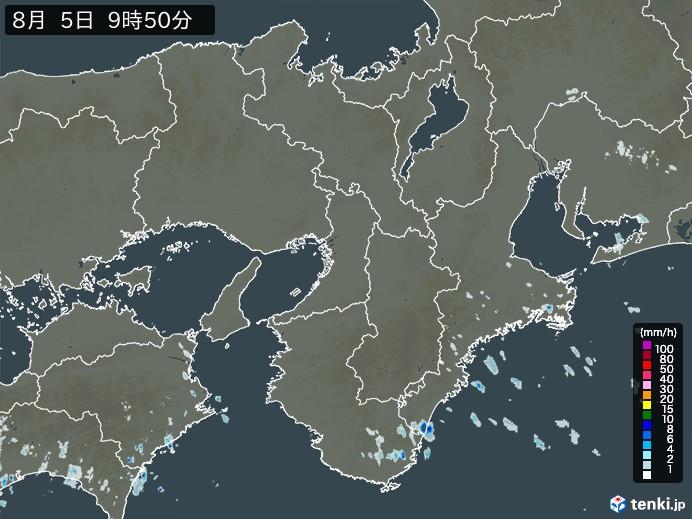 近畿地方の雨雲の動き