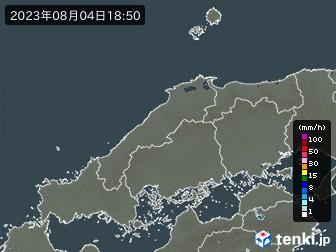 中国地方の雨雲の動き