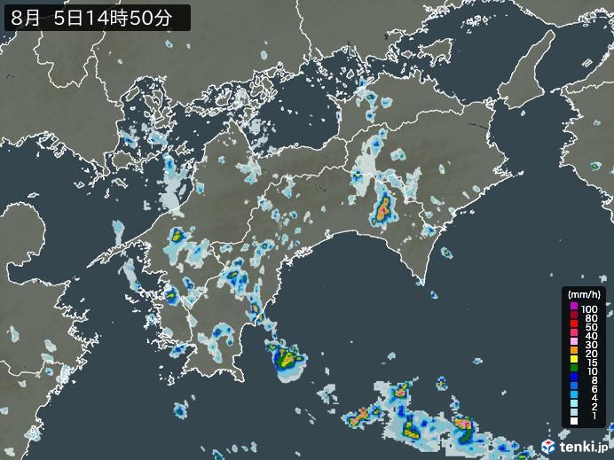 四国地方の雨雲の動き