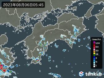 四国地方の雨雲の動き(実況)