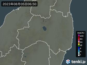 福島県の雨雲の動き